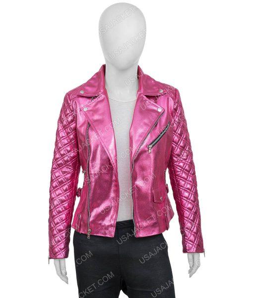 Sarah Shahi SexLife (2021) Billie Connelly Leather Jacket