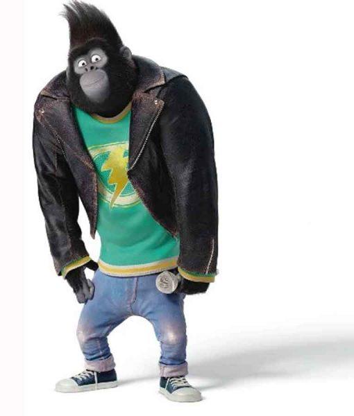 Sing 2 Johnny Black Leather Jacket