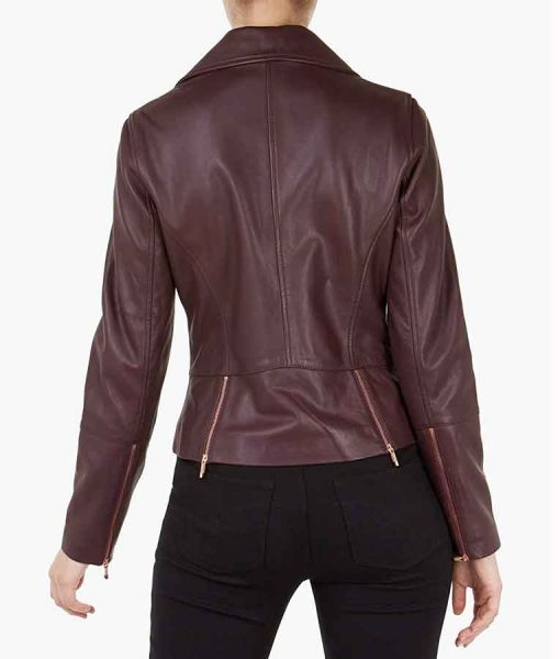 Superman and Lois Leslie Larr Motorcycle Leather Jacket