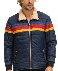 Superman and Lois Jonathan Kent Striped Jacket With Shearling Collar