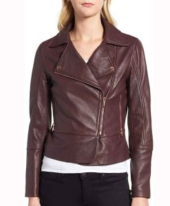Stacey Farber Superman and Lois Leslie Larr Leather Jacket