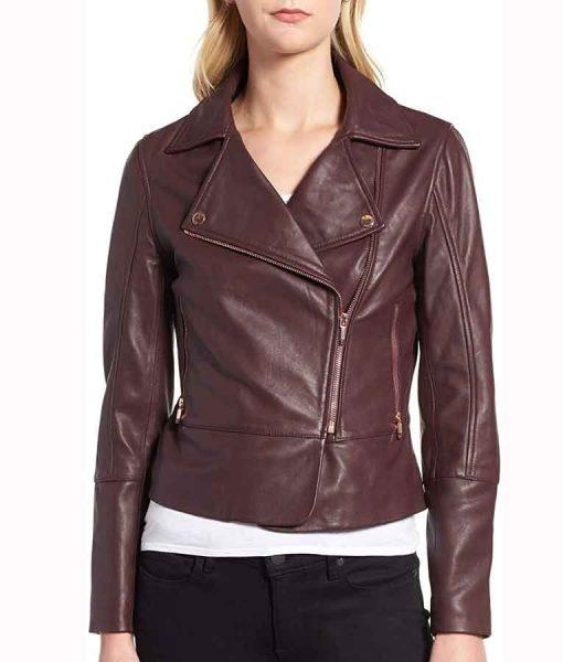 Superman and Lois Leslie Larr Leather Jacket