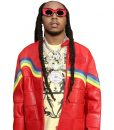 Migos Culture III Red Leather Jacket