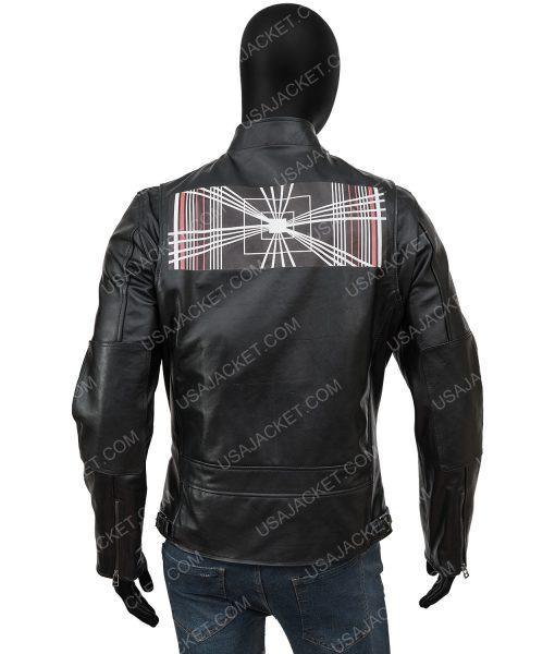 Tesla Model S Plaid Elon Musk Moto Leather Jacket
