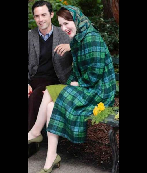 The Marvelous Mrs. Maisel Season 04 Rachel Brosnahan Plaid Trench Coat