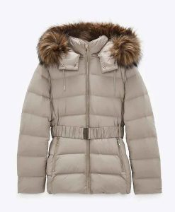 The Republic of Sarah Bella Whitmore Puffer Jacket With Fur Hood