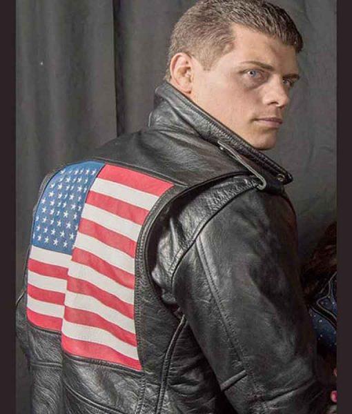 WWE Cody Rhodes US Flag Jacket