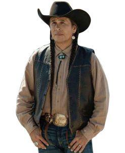 Yellowstone-Mo-Brings-Plenty-Leather-Vest