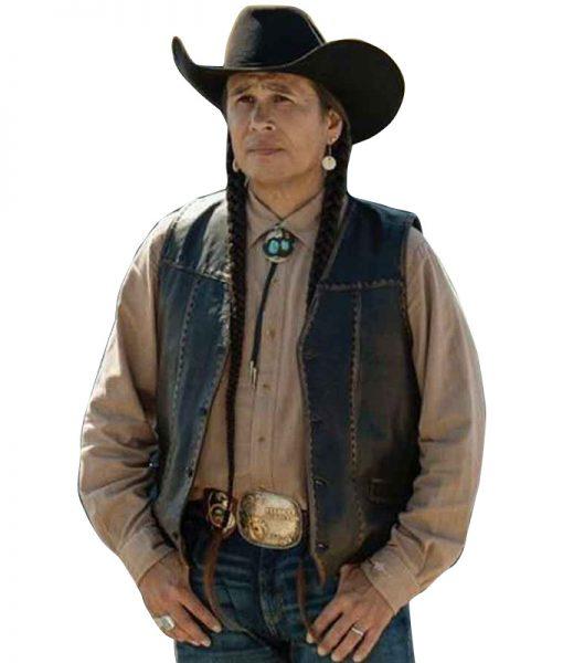 Yellowstone Mo Brings Plenty Leather Vest