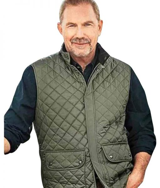 Yellowstone-S04-Kevin-Costner-Green-Quilted-Vest