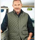 Yellowstone S04 John Dutton Green Quilted Vest