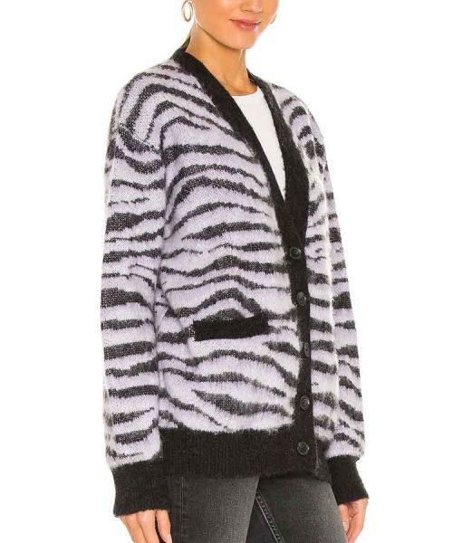 Samantha Logan All American Season 03 Olivia Baker Tiger Stripe Cardigan