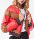Kylie Rogers Red and Brown Home Before Dark Izzy Lisko Puffer Jacket