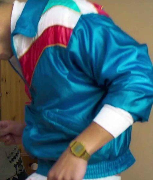 Stéphane The Exchange Avan Jogia Blue Stain Jacket