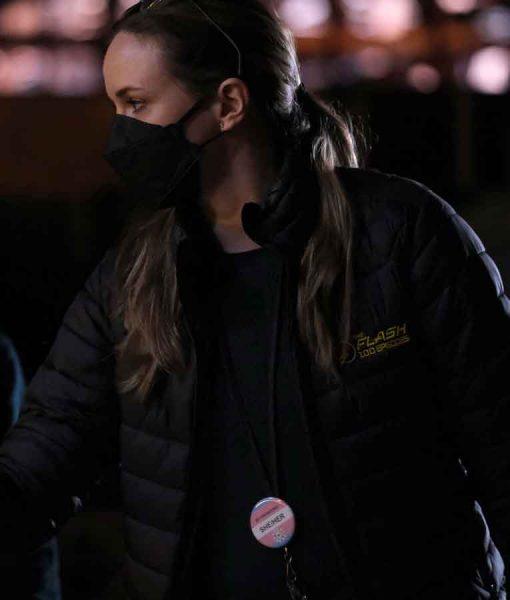 The Flash Crew Black Puffer Jacket