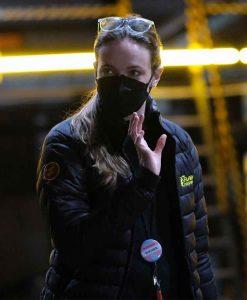 The Flash 100 Episodes Crew Black Puffer Jacket
