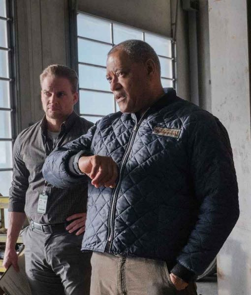 The Ice Road Laurence Fishburne Quilted Jacket