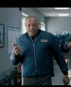 Laurence Fishburne The Ice Road Goldenrod Quilted Jacket