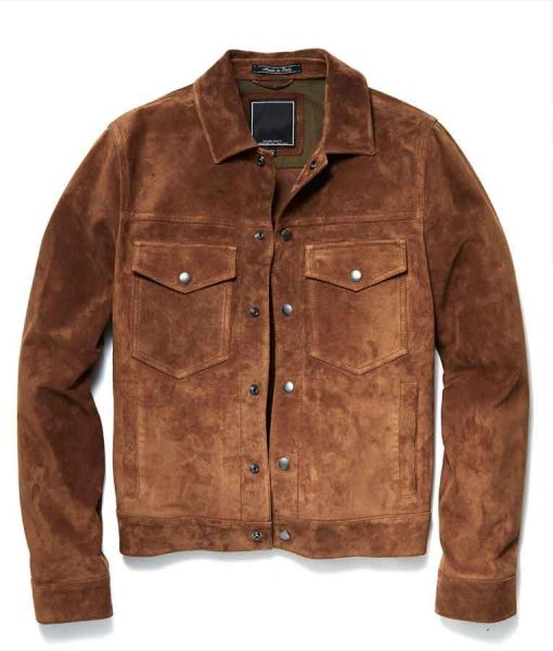 The Republic of Sarah Grover Sims Suede Jacket