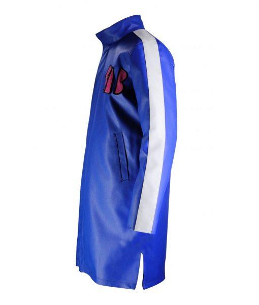 Goku Sab Blue Leather Jacket