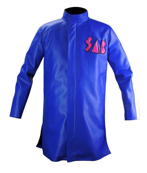 Dragon Ball Z Goku Sab Blue Leather Jacket
