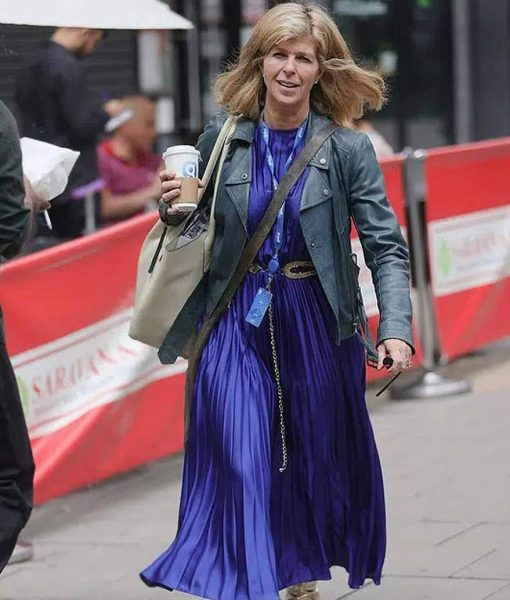 Kate Garraway Biker Leather Jacket