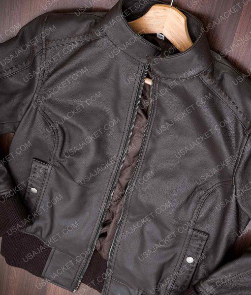 Katherine Pierce Brown Leather Jacket
