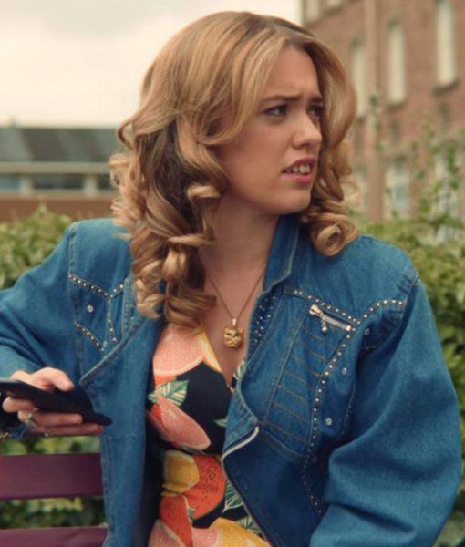 Aimee Lou Wood Sex Education Denim Jacket