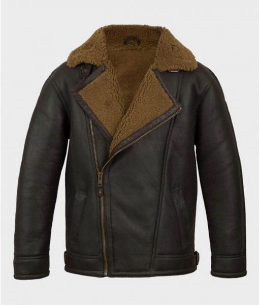 Anderson Black Sheepskin Shearling Leather Jacket