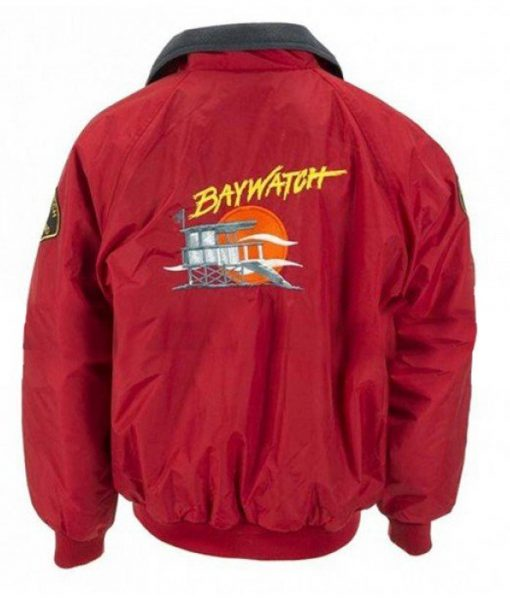 Baywatch Red Bomber Jacket