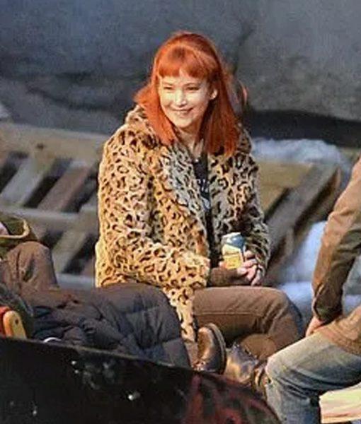 Don't Look Up 2021 Kate Dibiasky Leopard Jacket