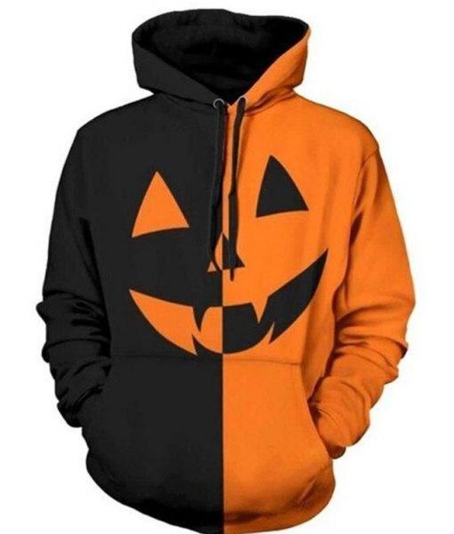 Halloween 2021 Pumpkin-head Hoodie