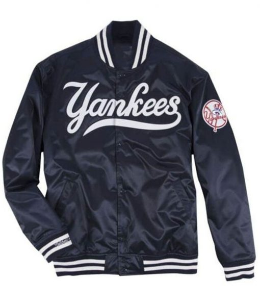 Men's Yankees Blue Bomber Jacket