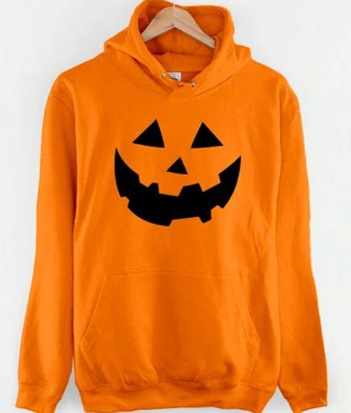 Mens Halloween Orange Hoodie