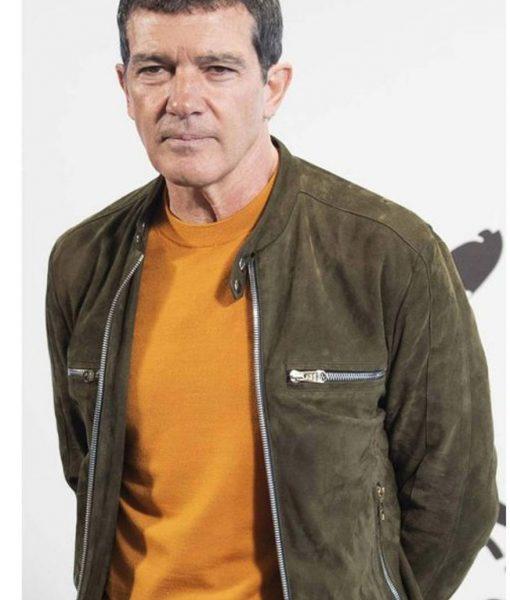 Pain & Glory Antonio Banderas Green Suede Jacket