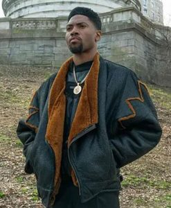 naruto hokagPower Book III Marvin Shearling Leather Jackete cloak coat