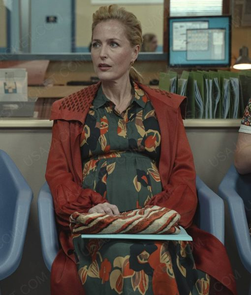 Sex Education Gillian Anderson Brown Trench Coat