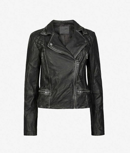 Ted Lasso Black Quilted Leather Jacket