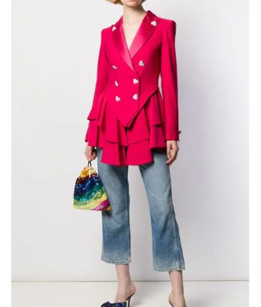 Ted Lasso Keeley's Pink Heart Blazer