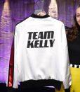 The Voice Team Kelly White Satin Jacket