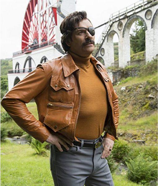 Julian Barratt Mindhorn Leather Jacket