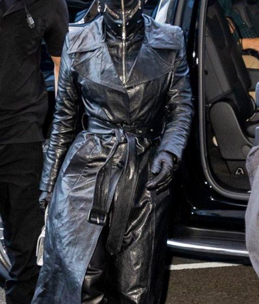 Kim Kardashian Met Gala 2021 Black Coat